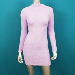 NASTY GAL Lavender Fluffy Knit Mini Dress / (NWT)